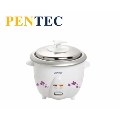 PENTEC Rice Cooker TAC-501 1 Litre  Easy One Touch Control Conventional Periuk Nasi Elektronic