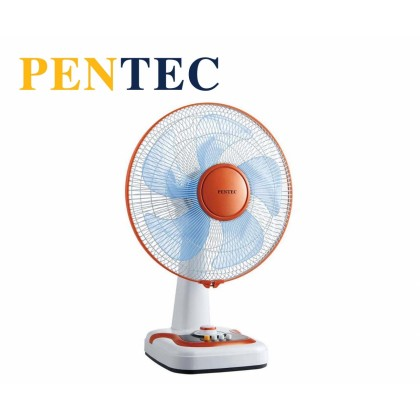 """PENTEC 16"""" TAC-1606 Table Fan 5 Blades Wide coverage with oscillation and tilt-adjustable head"""
