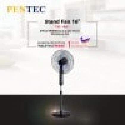 "PENTEC Stand Fan 16"" TAC-1609 KIPAS BERDIRI Automatic Timer Shutdown Eco"