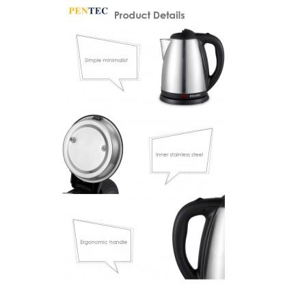 PENTEC Electric Jug Kettle JK-16 (1.8L) Stainless Steel Body