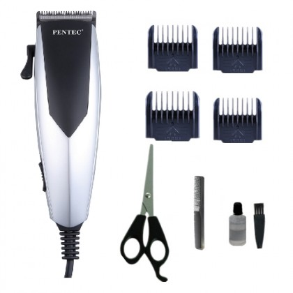 PENTEC Heavy Duty Quality Professional Studio Corded Hair clipper with 8 pcs accessories set