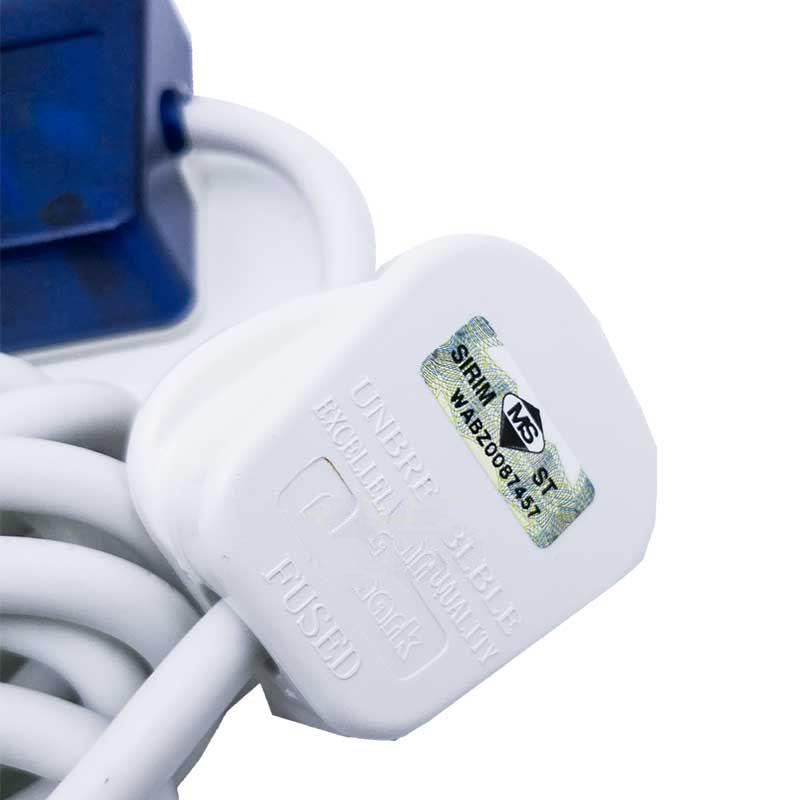 Pentec 2M TAC-8714 Extension Trailing Socket 4 Way with 2 USB Port 2 USB