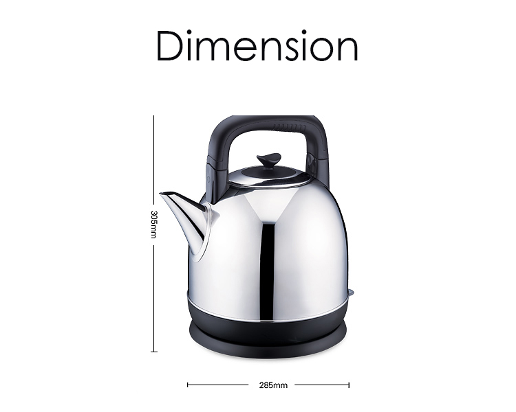 PENTEC Electric Kettle XSK-43 (4.3L) SUS304 Stainless Steel Body Apple Type Easy Filling